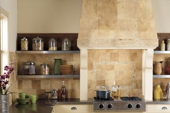 beautiful stone kitchen backsplash
